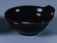 Салатник (Серия чёрная керамика с красным...