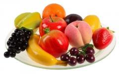 Set of models of fruit code 6225