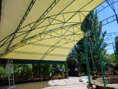Canopies shadow of material PVH