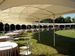 Awning constructions from material PVH