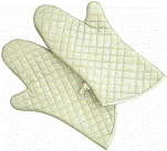 The tack mitten is heat-resistant, average, an