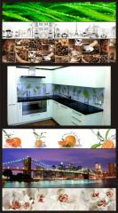 Кухонный фартук, скинали, стеклянная панель Астана