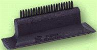 Log hairbrush for registration of cake, art.