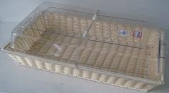 Хлебница плетеная с акриловой крышкой, арт. X04013