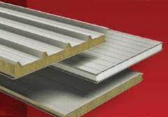 Sandwich panel with a mineral-cotton heater on a