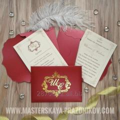 Exclusive invitation on a wedding