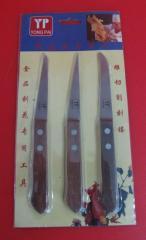 Karbovochny knives (set), art. Rkarv 3