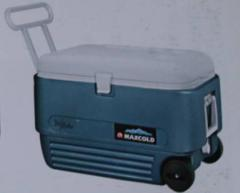 Thermal container (thermos) on wheels with the