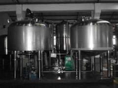 The minibrewery, power is 1000 liters, the equipment for production of beer