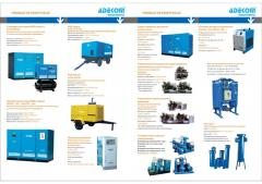 Compressor systems and filters of compressed air