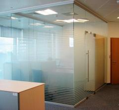 All-glass office partitions
