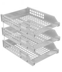 The STRONG set of 3 trays goriz on metal. cores of