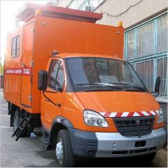 Mobile laboratory of diagnostics and operation of