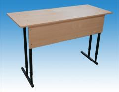 School desk adjustable + 2 chairs