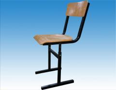 He chair is school adjustable