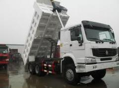 HOWO 336 dump truck of h.p. of 25 tons.