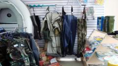 Clothes for hunting and fishing in Kostanay