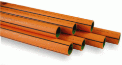 Protective polyethylene pipes for linear