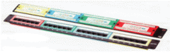 Patch panel, kat. 5e, 24 ports