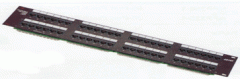Patch panel, kat. 6, 24 ports