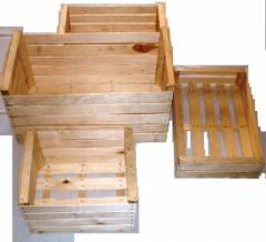 Wooden boxes for fruit under the order from the