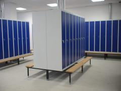 Cases metal for locker rooms in Astana