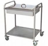 The cart for giving of hot dishes 2 tiers