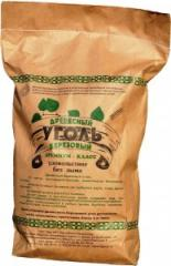 Birch charcoal in package