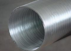 Air duct semifixed aluminum 90