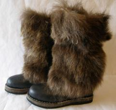 High fur boots are fur