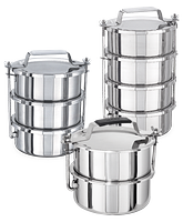 Many-tier containers with double walls