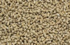 The compound feed granulated