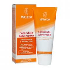 Toothpaste with a Weleda mint flavourless