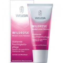 The smoothing moisturizing Weleda cream leaving