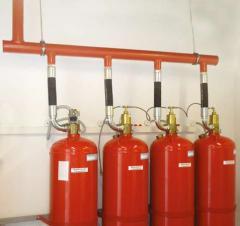 Установки газового пожаротушения модульные