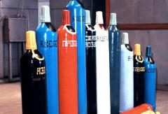 The gases liquefied in cylinders