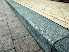 The sidewalk border from granite Dripped Arasal