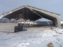 Construction of warehouses, hangars from the