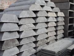 Slab of reinforced concrete strip foundations