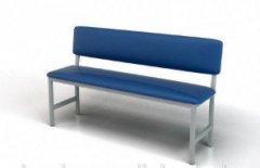 Banquette 2-seater with a back