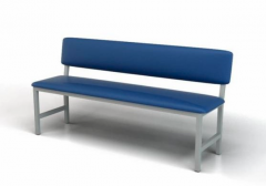 Banquette 3-seater with a back