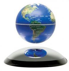 Парящий глобус 10см (синий)