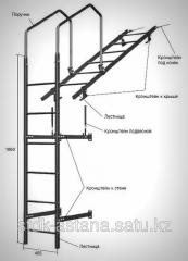 The ladder is roofing, wall (dl. 1860 mm) without