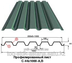 The pro-thinned-out sheet C-44x1000-A,B with a