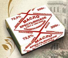 Сладкосливочное масло Крестьянское 200 гр.