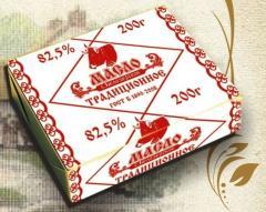 Масло сливочное Традиционное 82, 5%