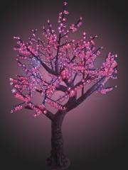 LED tree the Azalea, height of 2.3 meters, Pink
