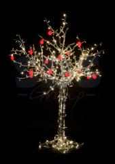 LED tree the Apple-tree, height of 2.5 m, 20 red