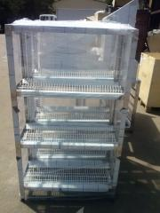 Rack kitchen for storage and drying of ware