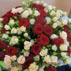 Bouquet from roses